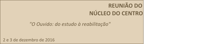 Reunião do Núcleo do Centro